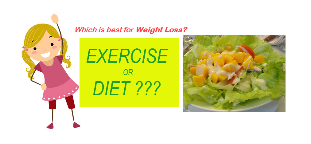 exercise versus diet for weight loss